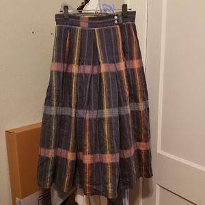 Vintage Multi-Colored Circle Skirt w/Pockets!